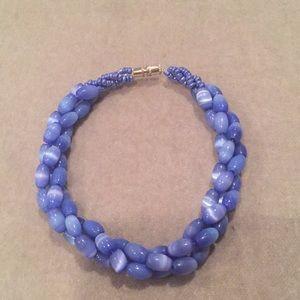 Jewelry - Braided Blue Bracelet